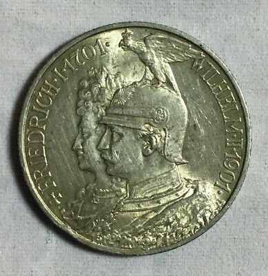 1901 A Prussia German States 2 Marks