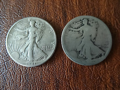 1941 50C WALKING LIBERTY HALF DOLLAR SILVER COIN + 2ND Coin Missing Date