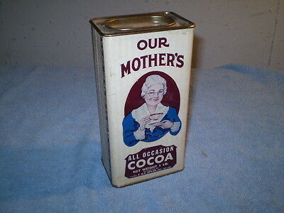 Vintage 1930 1940 Mother's Cocoa Container Spice Tin