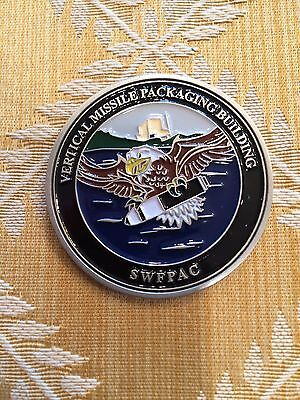 Vertical Missile Packaging Building US Navy Challenge Coin