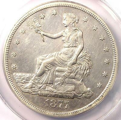1877-S Trade Silver Dollar T$1 - ANACS AU50 Details - Rare Certified Coin!