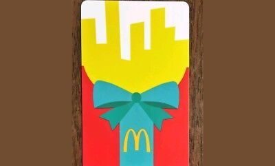 McDonald's box of fries gift card with no cash value