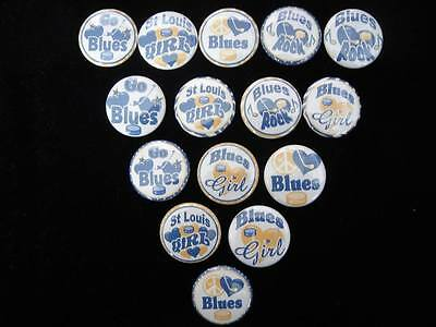 St Louis Blues buttons flat backs or pin badges cabochons embellishments magnets