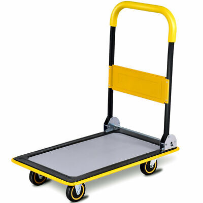 330lbs Folding Platform Cart Dolly Push Hand Truck Moving Warehouse Foldable New
