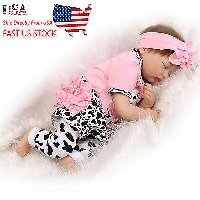 "Sleeping High Vinyl Reborn Baby NPK22""  Doll Soft Silicone Girl Toy Gift"