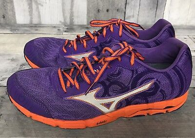 Women's Purple Athletic Trail Running Shoes Size 8.5 Mizuno Wave Hitogami