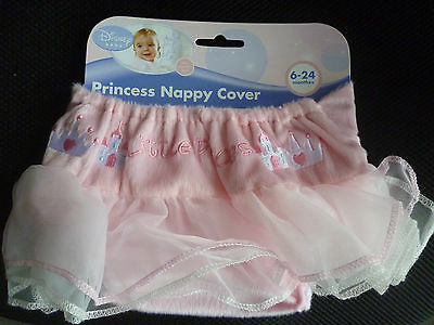 DISNEY BABY - Princess Nappy Cover. Pink Little Princess Baby Girl's  BRAND NEW
