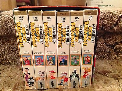 The Adventures of Rocky & Bullwinkle Vol. 1-6  SET  VHS Tapes COLOR RARE CLASSIC
