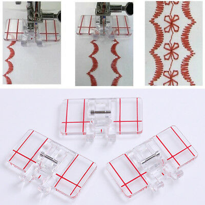 New Clear Plastic Parallel Stitch Foot Presser For Home Domestic Sewing Machine