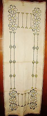 Antique Arts & Crafts Mission Table Runner~Craftsman Style