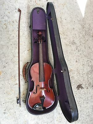 Antique Rare 1910 Frederick Geisler German Full Size Violin w/ Case And Bow