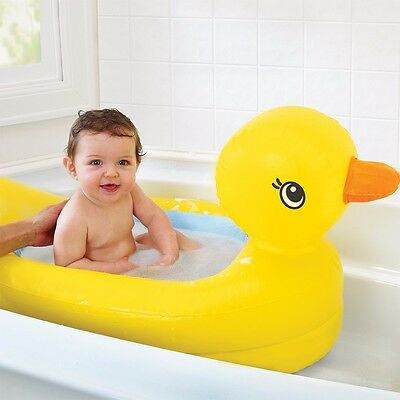 Munchkin Inflatable Safety Duck Bath Tub Baby 6 Month Plus Great For Transition