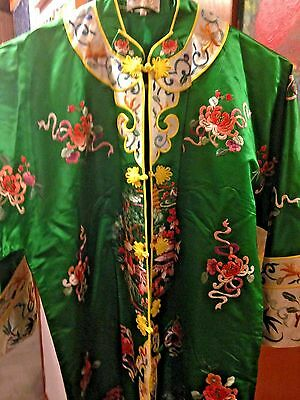Chinese Traditional Silk Embroidered Woman's Robe