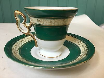 Wales Porcelain Demitassee Cup And Saucer (Japan)