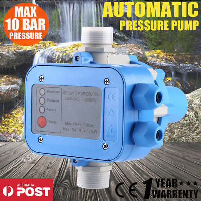 Automatic Pressure Switch Control Electronic 10Bar Water Pump Controller AU SHIP