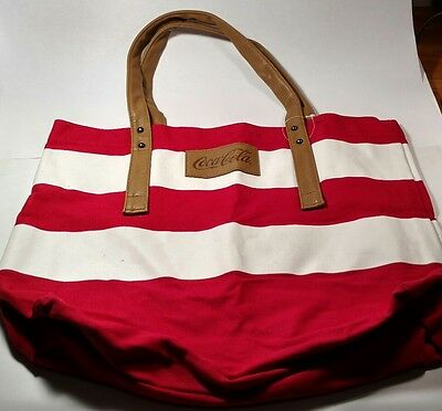 Rare Authenic Coca-Cola Tote Bag Collectors Beach, Library, Grocery, Hand Bag