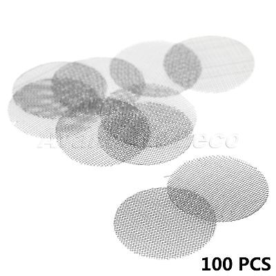 100pcs 20mm Silver Metal Smoking Tobacco Pipe Screen Filters Stainless Steel HOT
