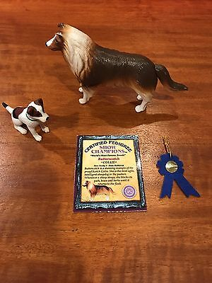 Grand Champions Show Champions Dog Playset 79001 Collie Terrier Vintage Toy