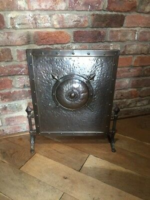 Arts And Crafts Metal Fire Screen