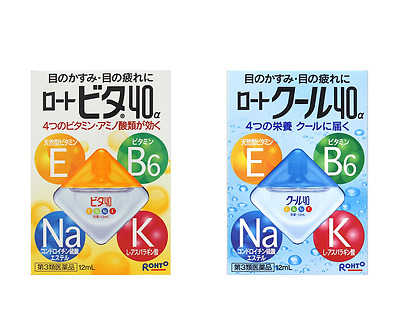 ROHTO Vita 40α Cool 40α Eye Drops 12ml Eye Care New Free Shipping Japan