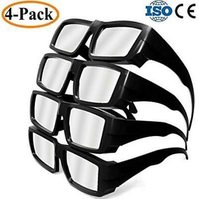 4-Pack Professional Solar Eclipse Glasses solar Safe Viewer Sun filter for Adult
