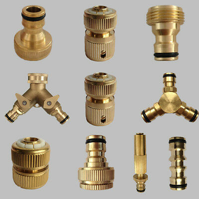 Brass Hose Connector garden tap watering pipe Quick Adapter Fitting kit Switcher