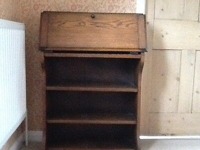 Small Oak Bureau / Bookcase