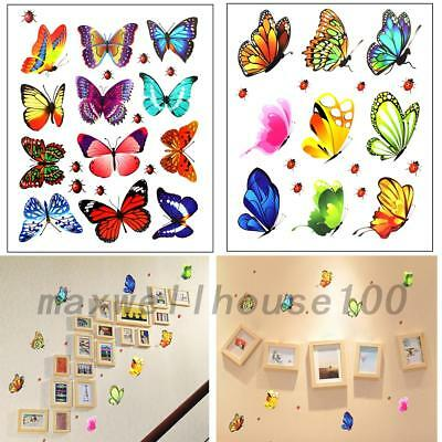 10pcs Butterfly Design Decal Art Wall Stickers Room Decorations Home Decor