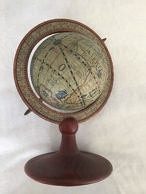 vintage world globe Approx 9 Inches High. Used