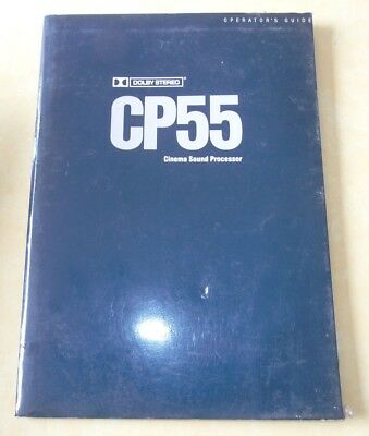 Operator's /  Guide  Dolby Cp55 Cinema Sound Processor