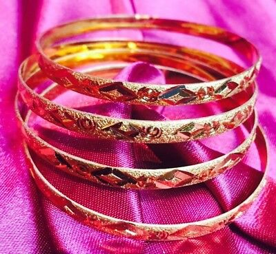 Able 2.8 L Bollywood 6 Bangles Bracelet Indian Wedding Jewellery Chura Gold Tone A2 For Fast Shipping Engagement & Wedding