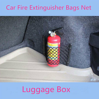 Universal General Car Trunk Fire Extinguisher Bags Storage Net Luggage Pocket