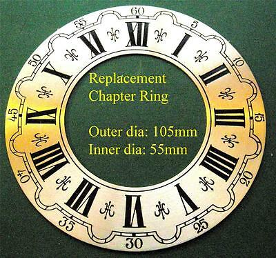 25/2 D14 Metal clock chapter ring outer dia:104mm inner dia:55mm