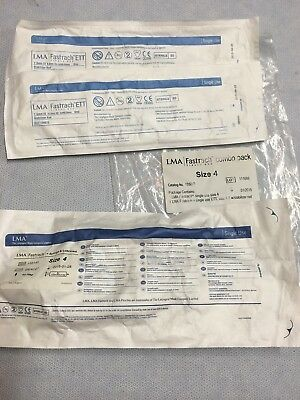 LMA 135240 and 136475 Fastrach Single-Use Airway Combo Pack Size 4