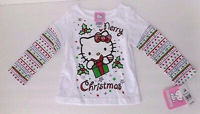 Hello Kitty Merry Christmas Holiday Long Sleeve T Shirt Size 18 months toddler