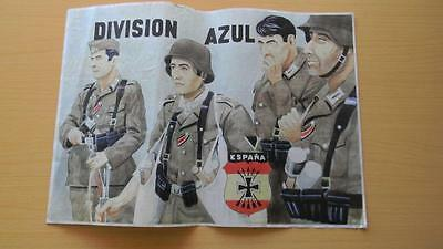 JK407 SPAIN ESPAÑA POSTER 42 x 29 cm. RUSSIA GERMANY. DIVISION AZUL. SOLDIERS