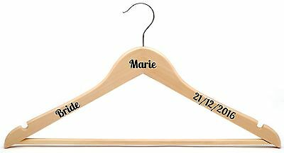 Personalised Coat Hanger Decal Vinyl Sticker DIY Wedding Bridal Party Bride lobs