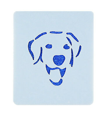 Labrador Face Painting Stencil 7cm x 6cm 190micron Washable Reusable