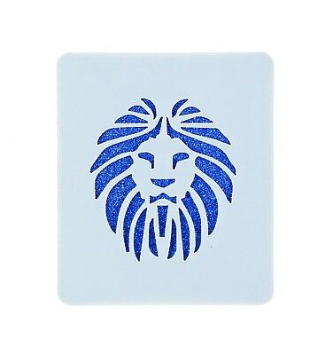 Lion Face Painting Stencil 7cm x 6cm 190micron Washable Reusable