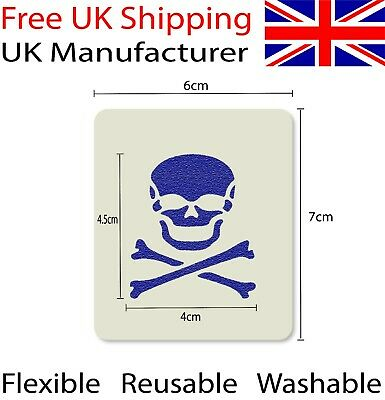 Skull Crossbones Face Painting Stencil 7cm x 6cm 190micron Washable Reusable