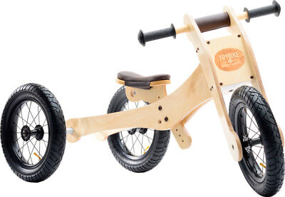 New Wooden Trybike with Brown Trim