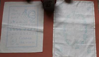 Vintage Sampler & Tray Cloth Ready to Embroider Violea Design by Penelope