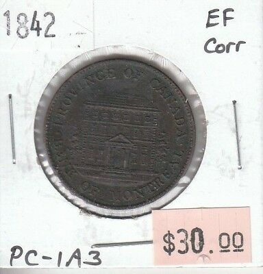 Province of Canada Half Penny Token 1842 - Bank of Montreal