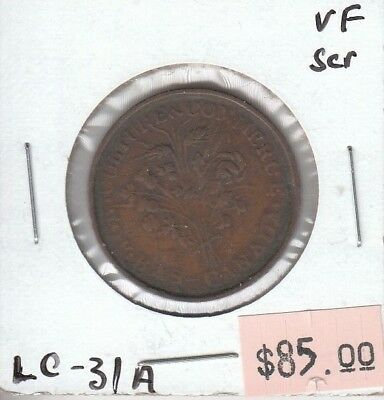 Lower Canada One Sou Token