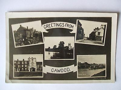 Vintage Real Photo Multi-View Postcard Cawood .
