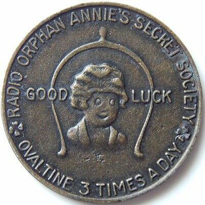Vintage Radio Orphan Annies Secret Society Ovaltine 3 Times A Day Good Luck Lqqk
