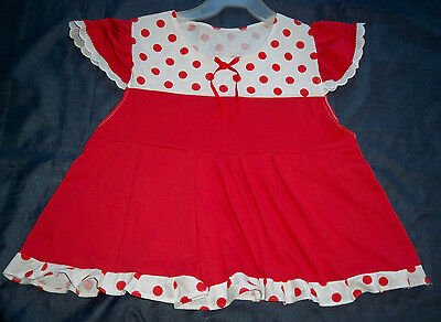 """ADULT 40"""" Red Cotton Knit Summer Dress,  By  KT"""