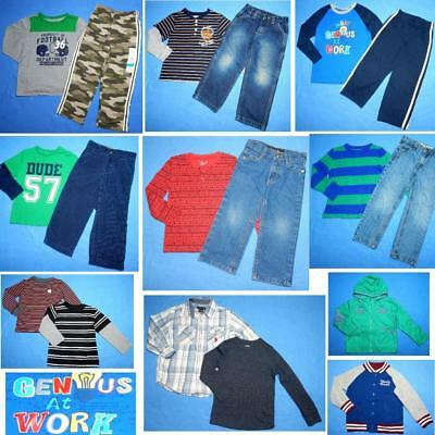 NICE Lot 18 pc boys School Fall clothing Sz 4/4T/5T Tops  jeans FAST SHIP~A56