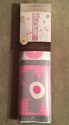 NIP Koala Baby 28 Piece Peel & Stick Wall Growth Chart Pretty In Pink Collection