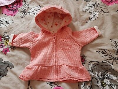 Baby girl pink coat up to 1 month